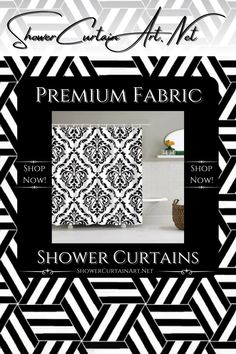 Drastically enhance your bathroom decor with a soft & stylish fabric shower curtain from Shower Curtain Art. Shower Curtain Art, Modern Shower Curtains, Fabric Shower Curtains, Bathroom Shower Curtains, Victorian Pattern, Fabric Patterns, Vibrant Colors, Stylish, Home Decor