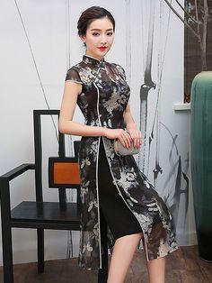 Oriental Dress, Oriental Fashion, Traditional Fashion, Traditional Dresses, Ao Dai, Vestidos Retro, Cheongsam Dress, Batik Dress, Chinese Clothing