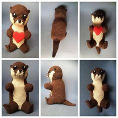 Otter - free crochet pattern by KaBon Creations.