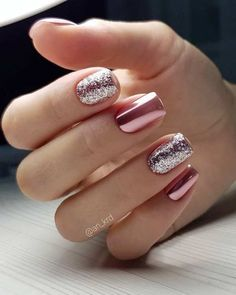 40 Attractive Sparkle Nails ideas to Highlight Normal Summer Outfit Fingers are parts that are easily exposed to detail. How can this aesthetic place be ignored? So in the summer, going to the nail salon will Cute Summer Nail Designs, Cute Summer Nails, Classy Nail Designs, Winter Nail Designs, Short Nail Designs, Nail Art Designs, Nails Design, Sparkle Nail Designs, Nail Summer