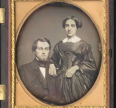 CWFP: Couple in Thermoplastic Case Daguerreotype for Sale: Daguerreotype Photograph - ic823a