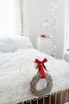 {white Christmas bedroom}