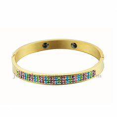 brazaletes con cristales multicolores de joyas para damas de moda