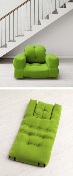 Chair that converts easily to a mattress
