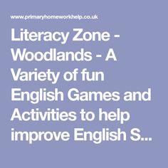 Literacy Zone - Woodlands - A Variety of fun English Games and Activities to help improve English Skills in easy to read format and navigation from Woodlands Junior School Fun English Games, Making Sentences, Prefixes And Suffixes, Improve English, Traditional Stories, Literacy Games, Compound Words, Alliteration, Interactive Stories