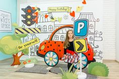 35 Ideas Baby Girl Party Ideas Creative For 2019 Exhibition Stand Design, School Decorations, Birthday Decorations, Car Themed Parties, Backdrops For Parties, Baby Party, Baby Birthday, Party Themes, Party Ideas