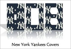 New York Yankees Light Switch Covers Baseball MLB Home Decor Outlet Go Yankees, New York Yankees Baseball, Yankees Gear, Yankees Nursery, Baseball Score Keeping, Light Switch Covers, Boy Room, Kids Room, Home Decor Outlet