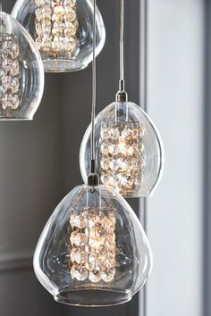 Buy Bella 10 Light 10 Light Pendant Cluster from the Next UK online shop Front Door Lighting, Stair Lighting, Pendant Lighting, Light Pendant, Hand Piercing, Cluster Lights, Light Fittings, Fabric Shades, Light Shades