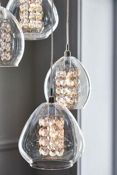 Buy Bella 10 Light 10 Light Pendant Cluster from the Next UK online shop Front Door Lighting, Light Shades, Ceiling Pendant Lights, Wall Ceiling Lights, Cluster Pendant, Lights, Light Fittings, Pendant Lighting, Cluster Lights