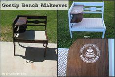 My So-Called DIY Blog: Gossip Bench Makeover