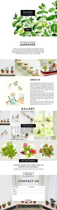 Flash Web Design for Encens Indoor Gardening