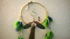 Parrot Feather Large Dream Catcher with Sea shells and barnacles accented by a center of aquamarine turquoise and moonstones by DreamCatcherMan on Etsy
