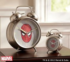 Spider-Man™ Retro Clocks   Pottery Barn Kids, got these in both sizes, one for me, one for kids' room!!