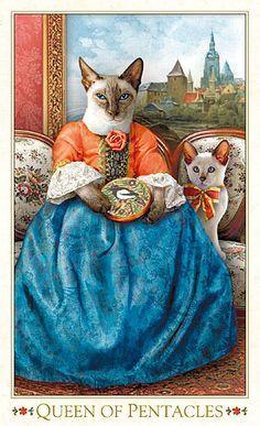 Queen of Pentacles - Bohemian Cats