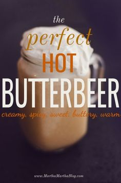 I searched far and wide for the best Hot Butterbeer Recipe.  After 5 FAILED attempts, I've created my own EASY to replicate hot butterbeer with topping.