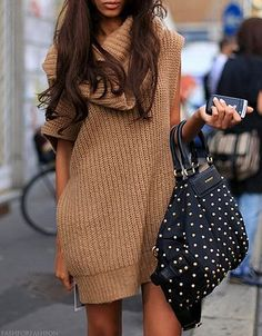 Chunky sweater dress