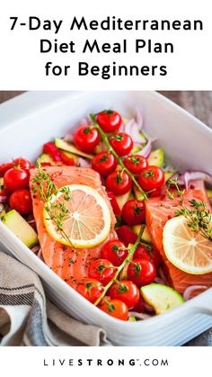 Ready to try the Mediterranean diet? Here are 7 days of Mediterranean diet recip. - Ready to try the Mediterranean diet? Here are 7 days of Mediterranean diet recipes, as well as some - Ketogenic Diet Meal Plan, Ketogenic Diet For Beginners, Diets For Beginners, Diet Meal Plans, Diet Menu, Keto Meal, Meal Prep, Ketogenic Breakfast, Atkins Diet