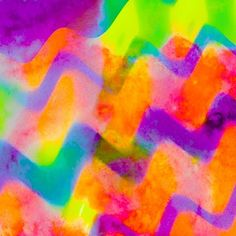 Colourful Art Print by mrandmrs Chevron Art, Rainbow Colors, Neon, Invitations, Graphic Design, Texture, Backgrounds, Art Prints, Iphone