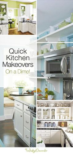 Try these quick kitchen makeovers (on a dime!) without doing a remodel that could cost you thousands. DIY a Kitchen Makeover this Weekend! Kitchen Redo, Kitchen Design, Kitchen Makeovers, Green Kitchen, Kitchen Ideas, Diy Design, Cocinas Kitchen, Updated Kitchen, Interior Exterior