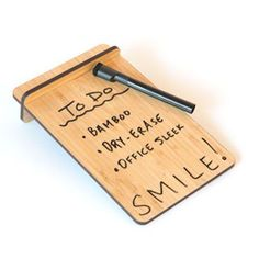 A bamboo dry-erase board that is hella stylish. | 33 Office Supplies That Will Rock Your Goddamn World