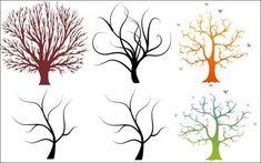 6 beautiful trees vector graphics 01 thumb 450x281 3204 ウェディングツリーに使いたい!樹木のイラスト素材(ベクター素材) Free Style