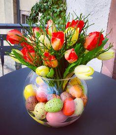 Easter flower arrangement