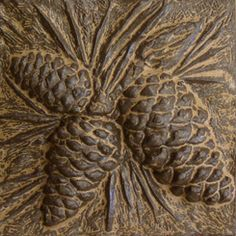 Handmade Ceramic Pinecone Tiles by Terry Tiles