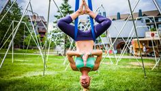 Want to get in on the aerial yoga movement? Check out these postures—they're great for newbies and experts alike.