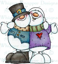 Snowpals - Snowmen Images - Snowmen - Rubber Stamps - Shop Christmas Images, Christmas Snowman, Christmas Time, Merry Christmas, Christmas Crafts, Xmas, Christmas Decorations, Christmas Ornaments, Frosty The Snowmen
