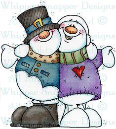 Snowpals - Snowmen Images - Snowmen - Rubber Stamps - Shop