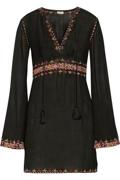 TalithaEmbroidered cotton-voile mini dress
