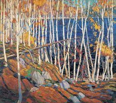 Tom Thomson, Claremont (Ontario) 1877 - Lac Canoe (Ontario) 1917, Dans le nord, huile sur toile.