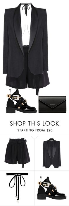 """""""total black with a touch of balenciaga"""" by aariaannaa ❤ liked on Polyvore featuring Tom Ford, Joomi Lim and Balenciaga"""