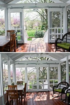 Screened Front Porches, Side Porch, Decks And Porches, Back Porches, Back Porch Designs, Screened Porch Designs, Outdoor Spaces, Outdoor Living, Farmers Porch