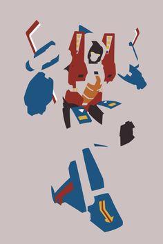 Transformers G1 Starscream Minimalist Print