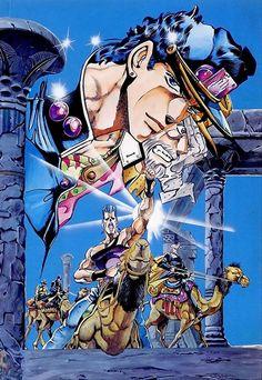 JoJo's Bizarre Adventure part 3 Stardust Crusaders - art by Hirohiko Araki Jojo's Bizarre Adventure, Japan Art, Japanese Artists, Jojo Bizarre, Anime Comics, Fractal Art, Cool Artwork, Anime Manga, Art History