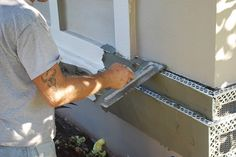 How to use stucco over foam board diy outdoor projects - How to repair stucco exterior wall ...