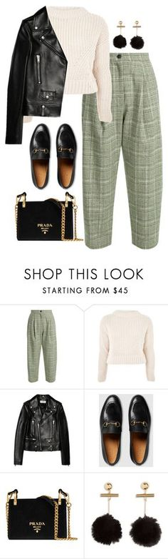 """""""Untitled #4394"""" by magsmccray ❤ liked on Polyvore featuring Natasha Zinko, Topshop, Yves Saint Laurent, Gucci and Prada"""