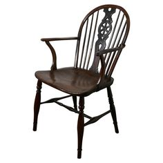 For Sale on - An early century elm wheel back carver chair The chair is early century and made in the traditional Windsor style, it is a good sturdy chair Bedroom Furniture Sets, Home Furniture, Bedroom Sets, Furniture Design, Black Kitchen Chairs, Primitive Dining Rooms, Country Furniture, Dining Chairs, Club Chairs