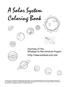 Printable Solar System Mini Book This mini book about the