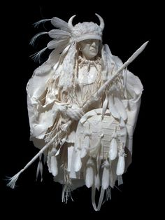"Eckman Fine Art  ~   Blackfoot Medicine Shield"" ~  Each cast paper sculpture is museum quality created  by Allen and Patty Eckman"