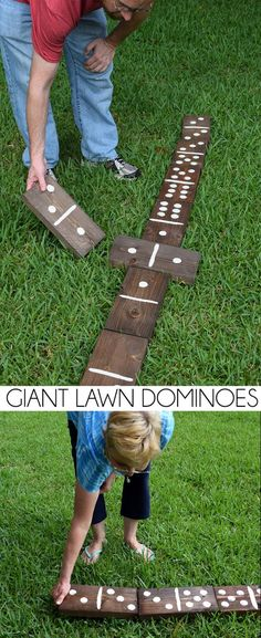 Make a set of giant wood lawn dominoes for less than $20! Its such a fun outdoor activity for the whole family!