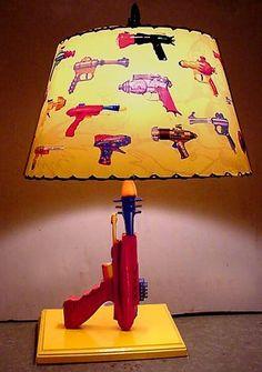 Items similar to Pyrotomic Ray gun Lamp and Lampshade on Etsy. , via Etsy.