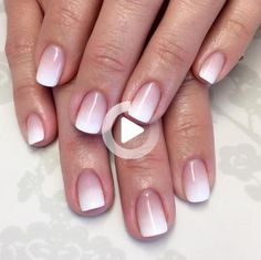 French tip blend                                                                                                                                                     More #ombrenails Nail Polish Trends, Nail Polish Designs, Nail Trends, Nails Design, French Nails, Nail Manicure, My Nails, Gel Nail, Purple Ombre Nails