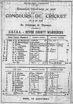 On this day (August 20) in 1900, the only cricket match to be played at the Olympics came to an end. Of course, considering England invented the game and hardly any other country played it, they won won the match. Here's an ancient image of that scorecard. Feel free to click on it for the complete story.