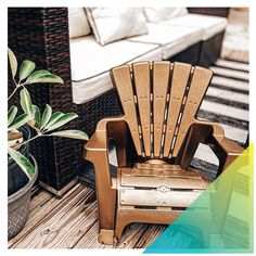 Some say miniature versions of objects are much cuter, and we'd have to agree when it comes to this kids' adirondack chair that Jordan Lane Homes transformed with Universal Metallic Spray Paint 😍. #DoItOutsideDIY #PlayUpgrade . #PlayUpgrade #RustoleumCAN #DIY #DIYer #DIYProject #OutdoorLiving #DIYKidsProjects #OutdoorSpaces #PatioFurniture #KidsFurniture Outdoor Spaces, Outdoor Chairs, Outdoor Living, Outdoor Furniture, Outdoor Decor, Kids Adirondack Chair, Metallic Spray Paint, Diy For Kids, Things To Come