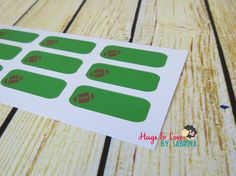 Football Practice/Game Planner Sticker  Size by HugsLove on Etsy