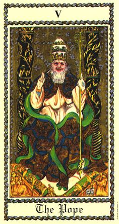 V. The Hierophant - Medieval Scapini Tarot by Luigi Scapini