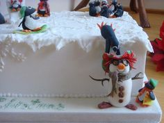 Penguins in the Park Christmas Raffle Cake