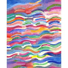 """Bright Waves"" signed watercolor print from Vinette's Studio - Hunters Alley"